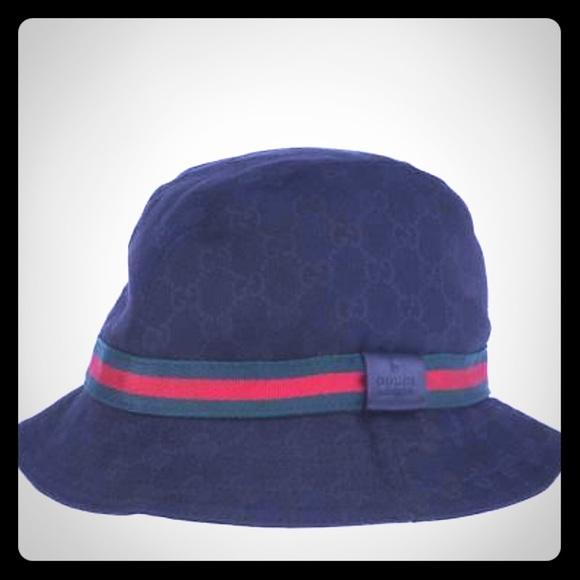 b6be550a Gucci guccissima GG canvas print black bucket hat